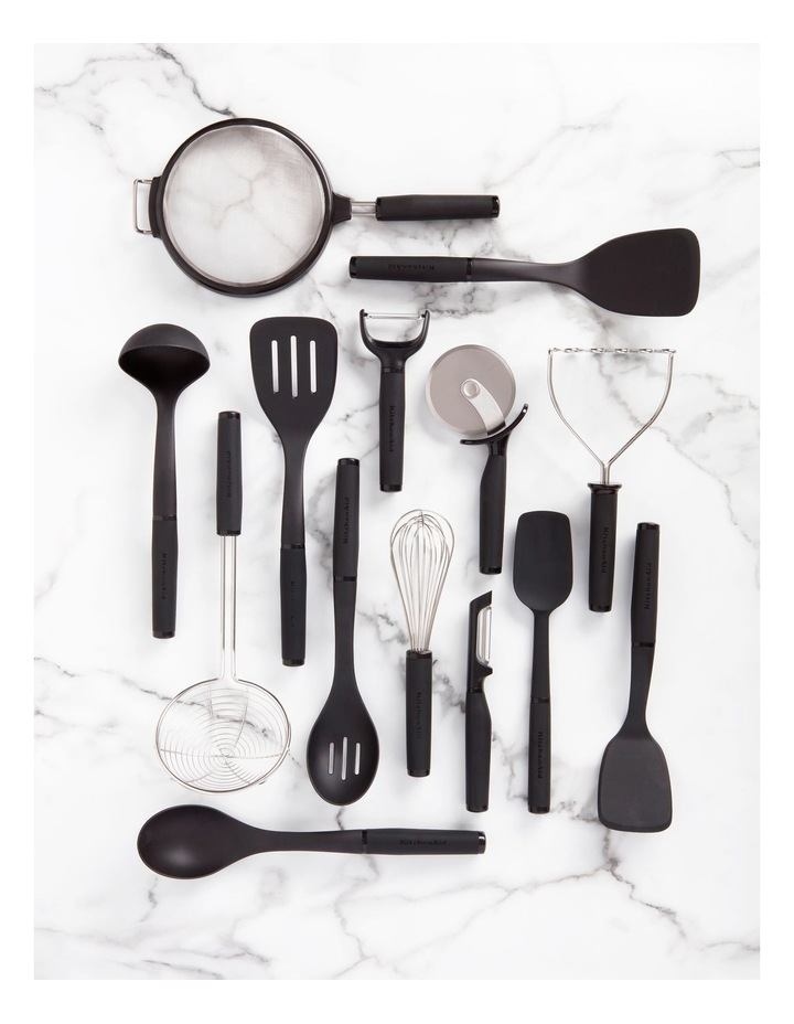 Soft Touch Slotted Spoon Nylon Black image 3
