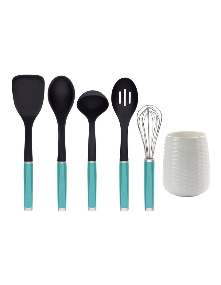 Utensil Crock Set 6pc Aqua Sky image 1