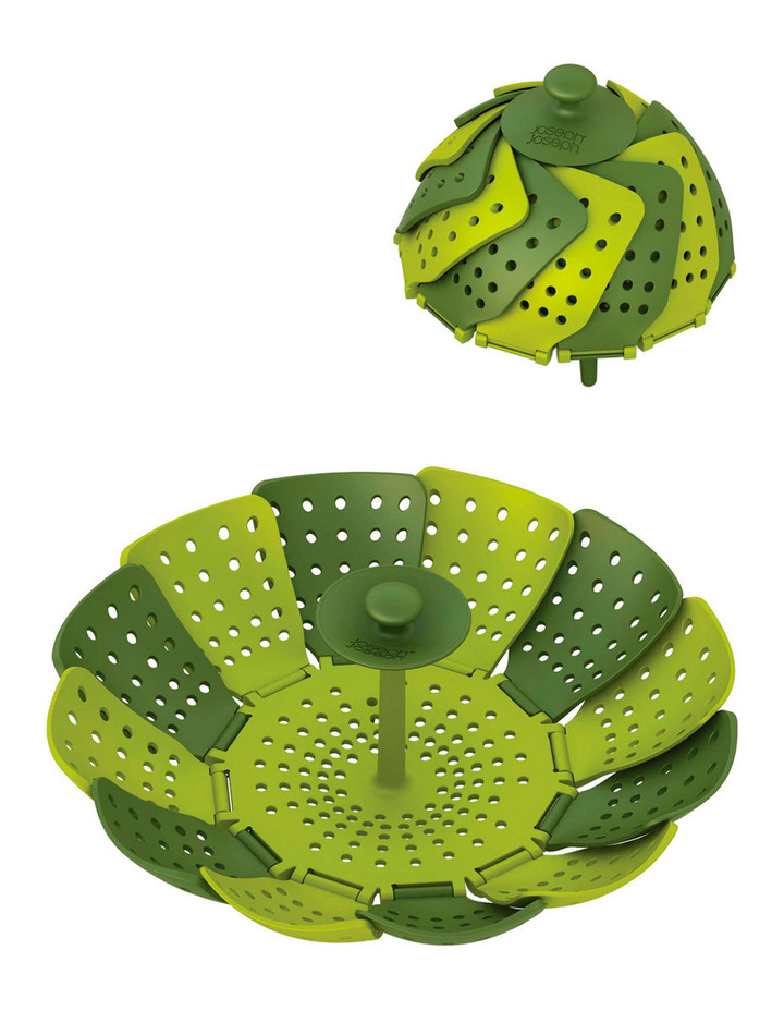 Lotus Folding Steamer Basket - Green image 2