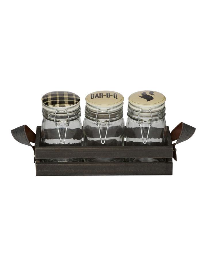 Smokehouse Condiment Jar Set image 1