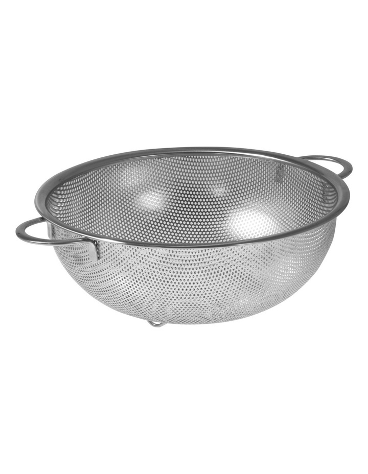 Stainless Steel Perforated Strainer with Handles  25.5cm image 1