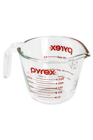 Pyrex - Glass Measuring Jug  1  2 or 4 Cup