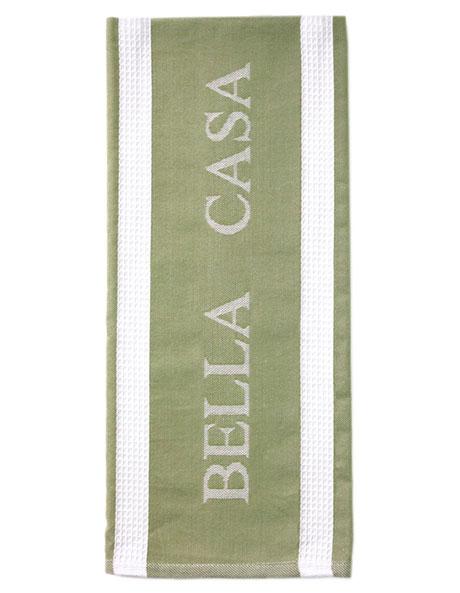 Bella Casa Sage Kitchen Towel image 1