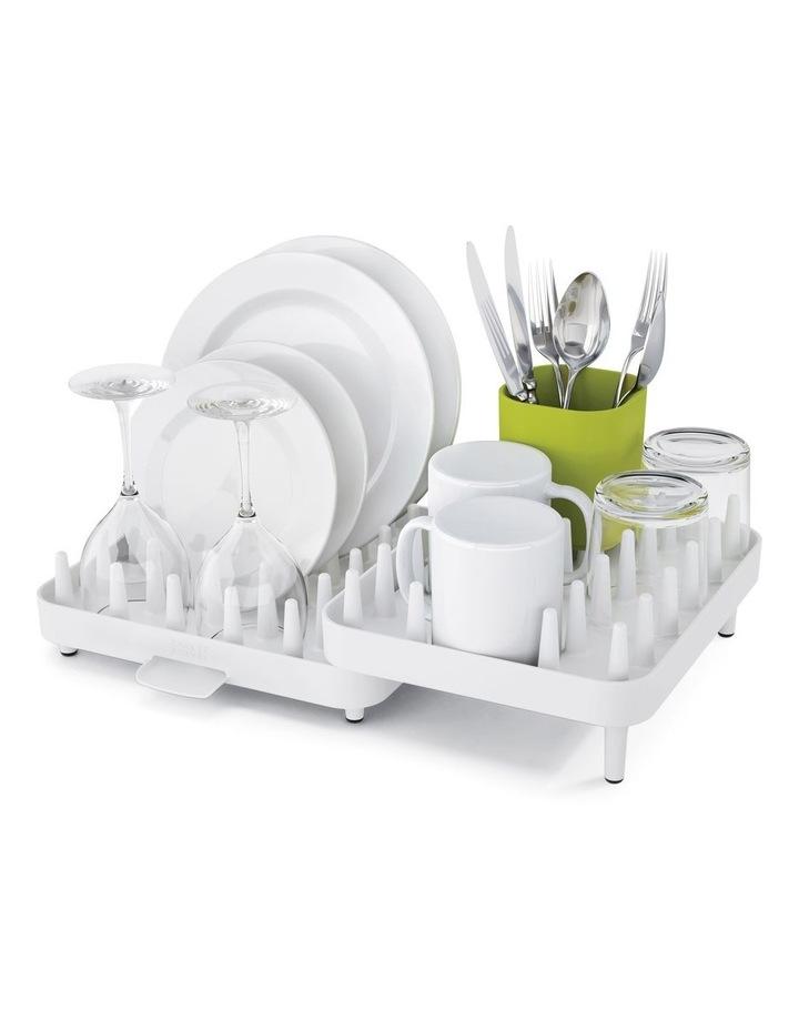 Connect Adjustable 3 Piece Dish Rack - White image 1
