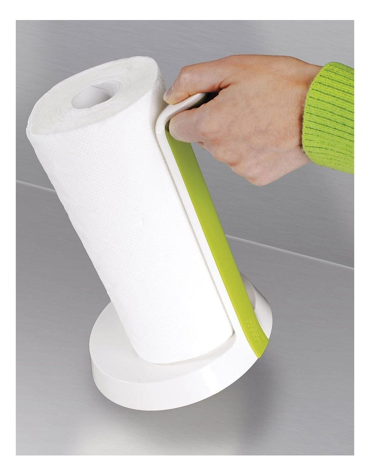 Easy Tear Kitchen Roll Holder - White/Green image 4