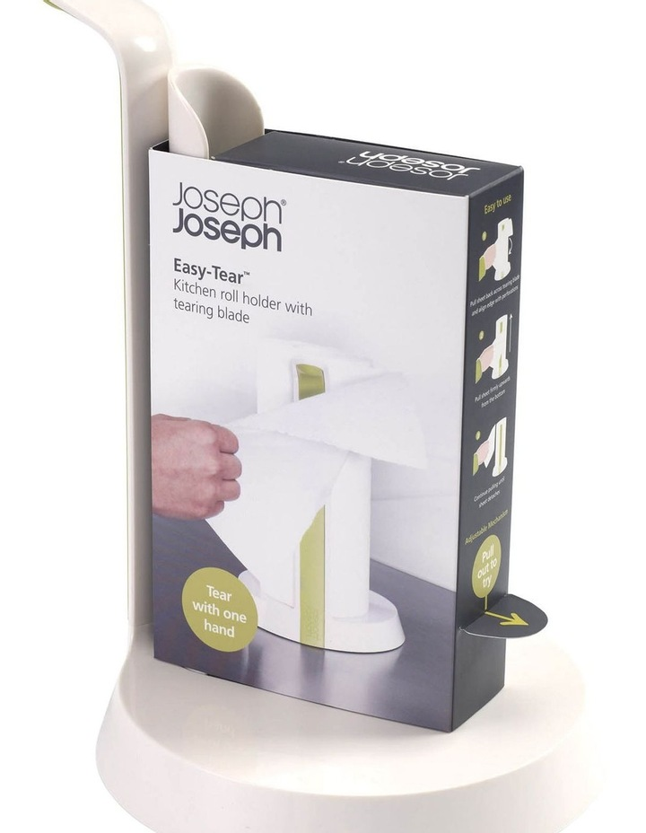Easy Tear Kitchen Roll Holder - White/Green image 6