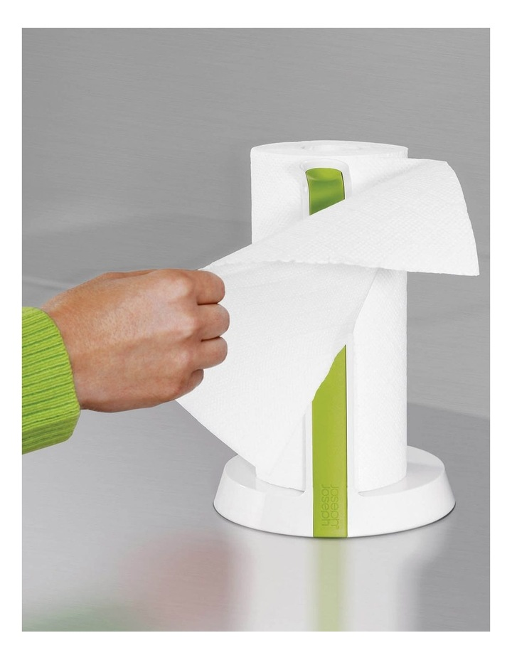 Easy Tear Kitchen Roll Holder - White/Green image 10