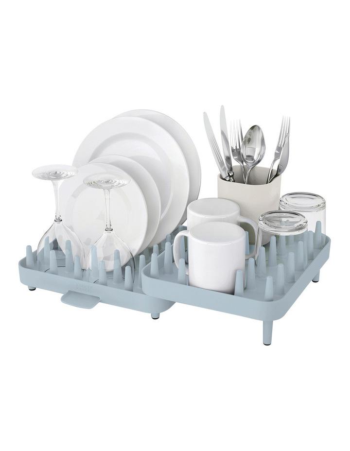 Connect 3pc Adjustable Dish Rack - Grey/Blue image 1