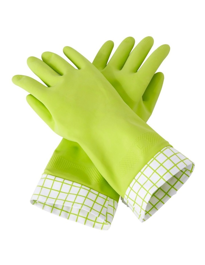 Ntrl Latex Clning Glves L Green image 1