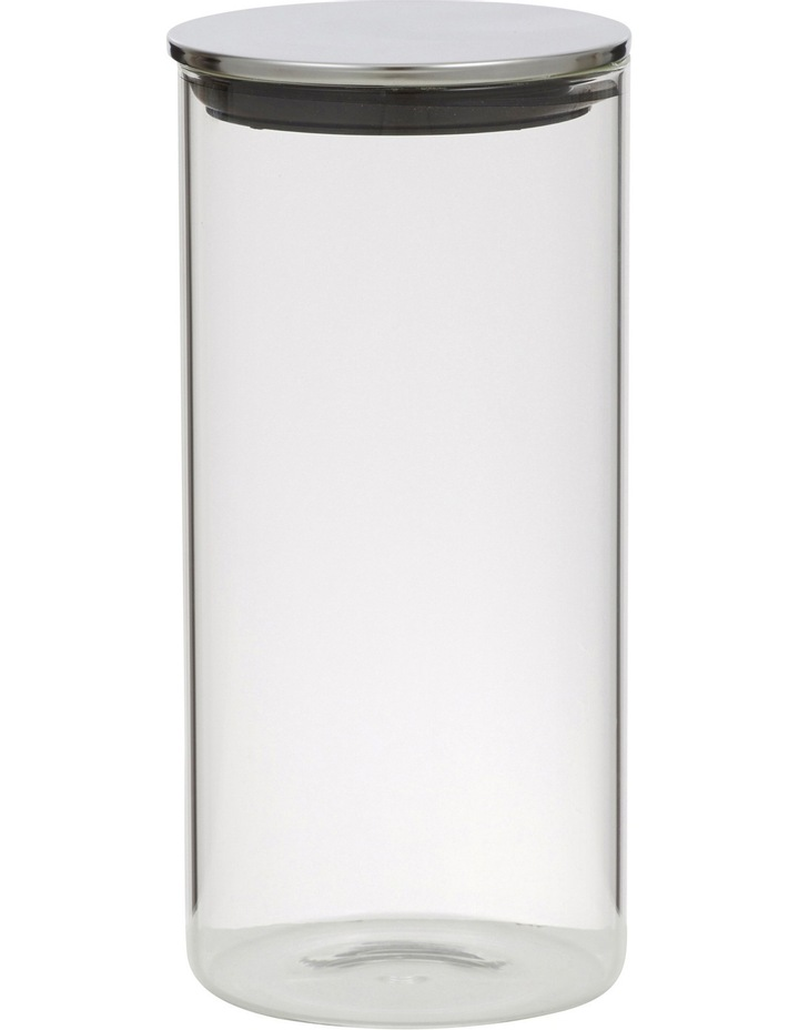 Essentials Glass Canister with Stainless Steel Lid  1.4L image 1