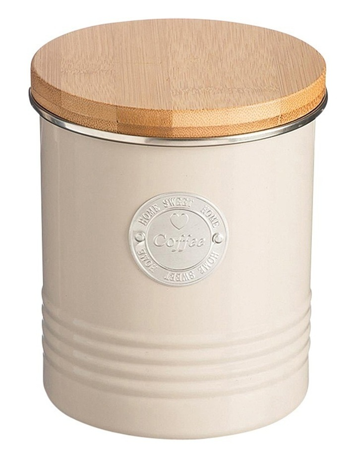 Living Coffee Canister with Bamboo Lid - Putty image 1
