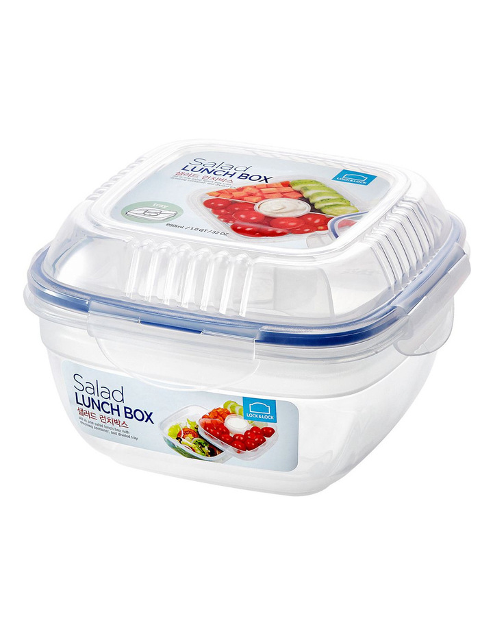 Salad Lunch box with dividers 950ml image 1