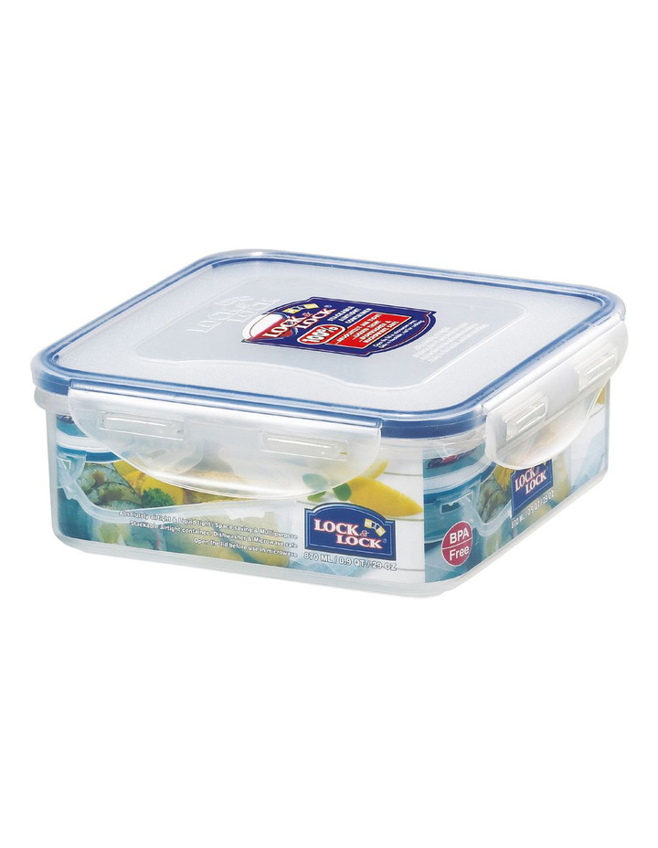Square Short Container 870ml image 1