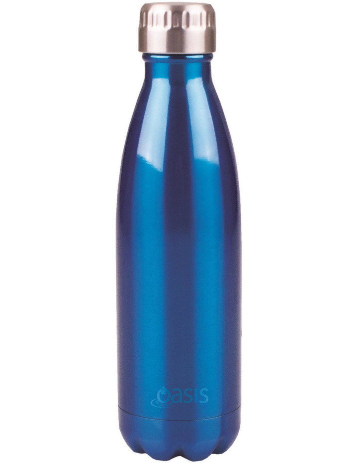 Stainless Steel Water Bottle  500ml - Blue image 1