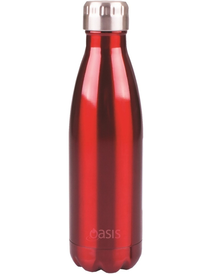 Stainless Steel Water Bottle  500ml - Red image 1