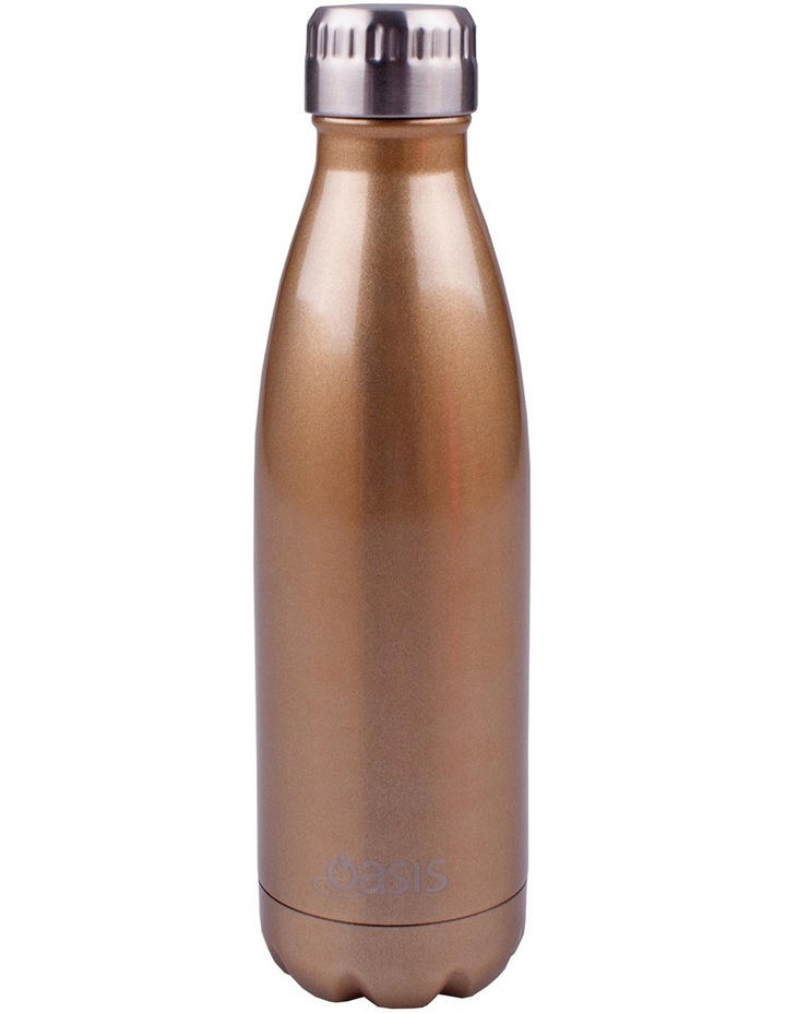 Stainless Steel Insulated 500ml drink bottle - Champagne image 1