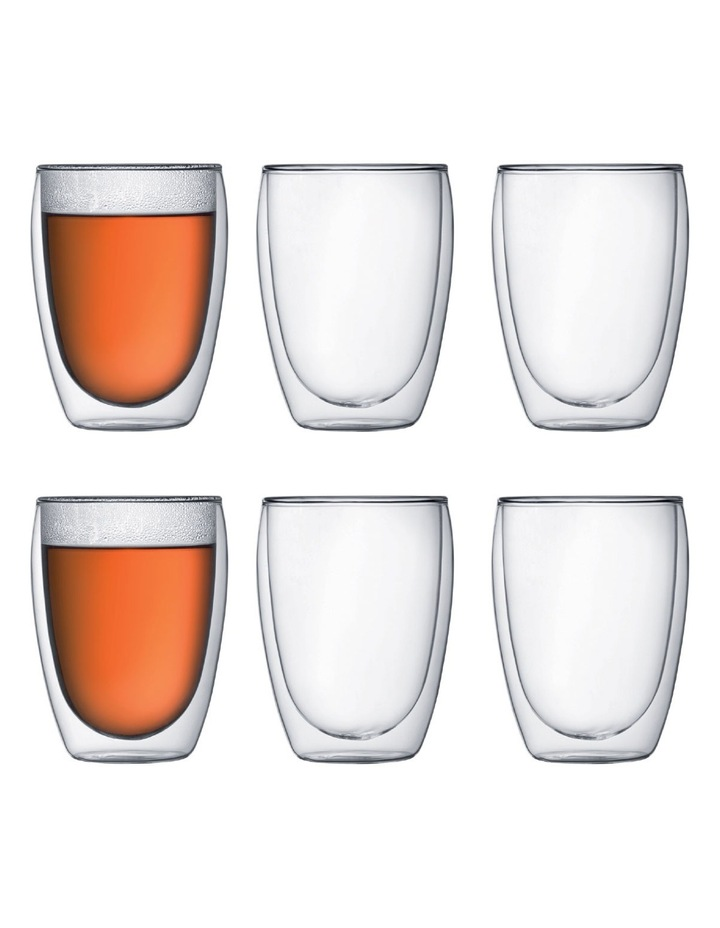 Pavina Double Walled Glasses, 350ml - Set of 6 image 1