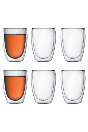 Bodum - Pavina Double Walled Glasses, 350ml - Set of 6