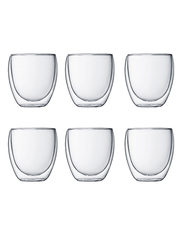 Pavina Double Walled Glasses, 250ml - Set of 6 image 1