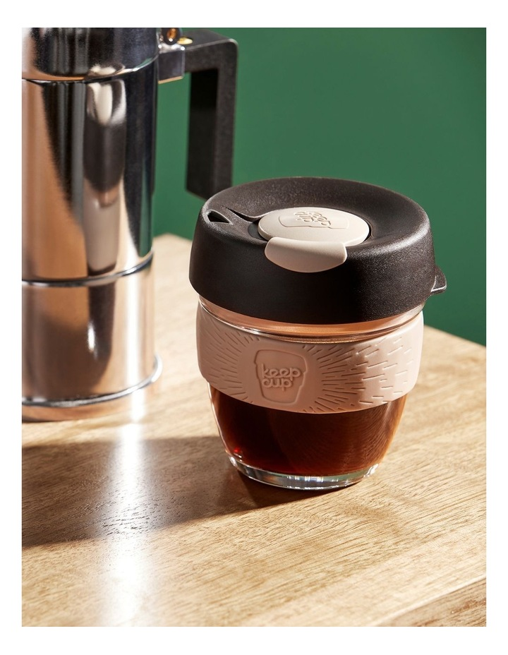 Brew Cork 8oz/227ml Reusable Glass Cup in Latte image 2