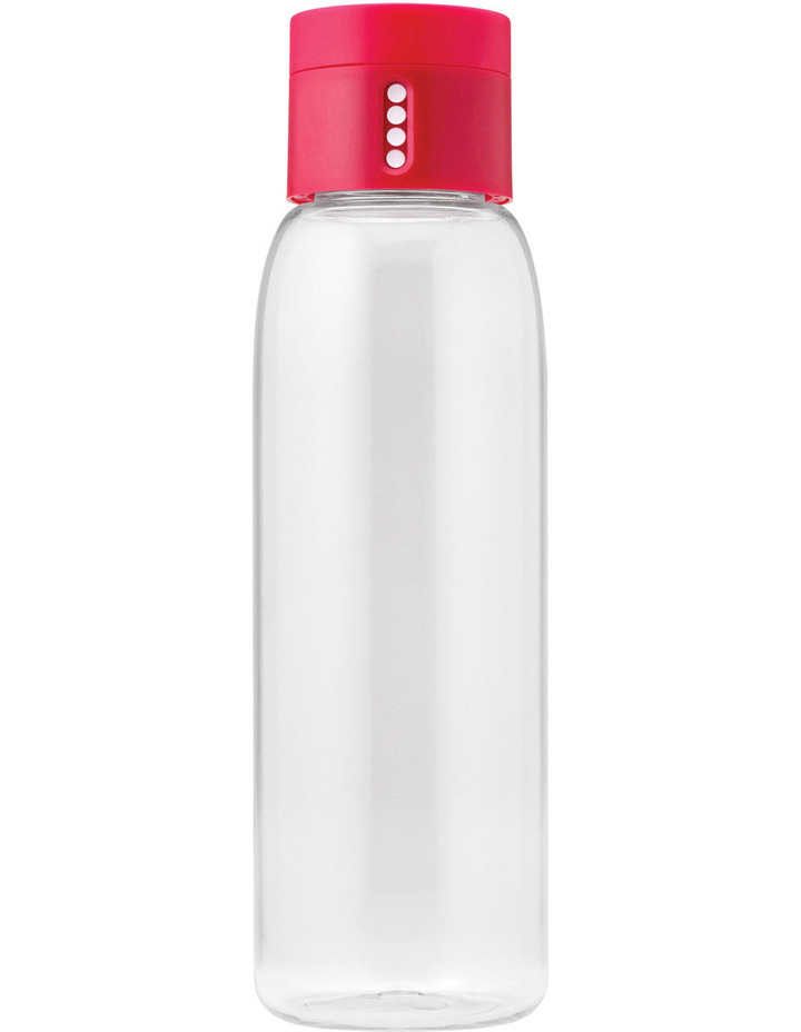 Dot Titan 600ml Drink Bottle with Hydration Counting Lid - Pink image 1