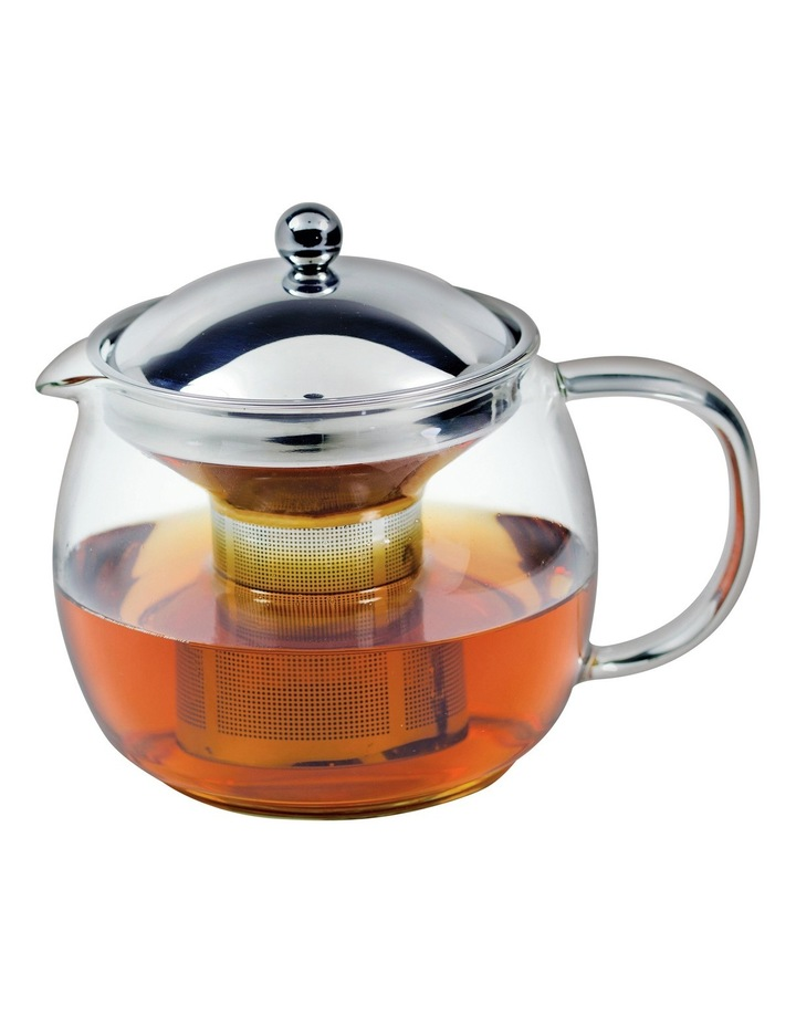 Ceylon Borosillicate Glass Teapot with Stainless Steel Infuser  1.25L image 1
