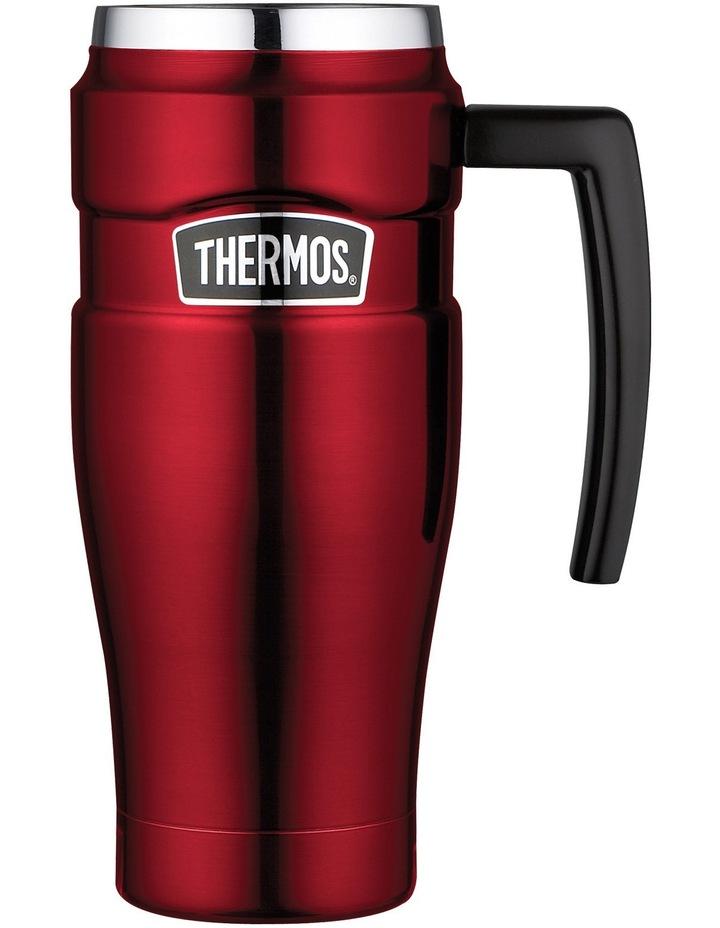 Travel 470ml Insulated Vacuum Red Stainless King Mug bgYfyv76