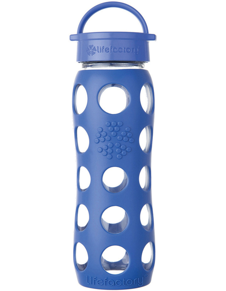 Lifefactory Glass 650ml Drink Bottle - Cobalt image 1