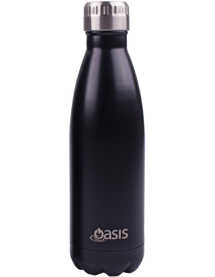 Stainless Steel Insulated Drink Bottle  500ml - Black image 1