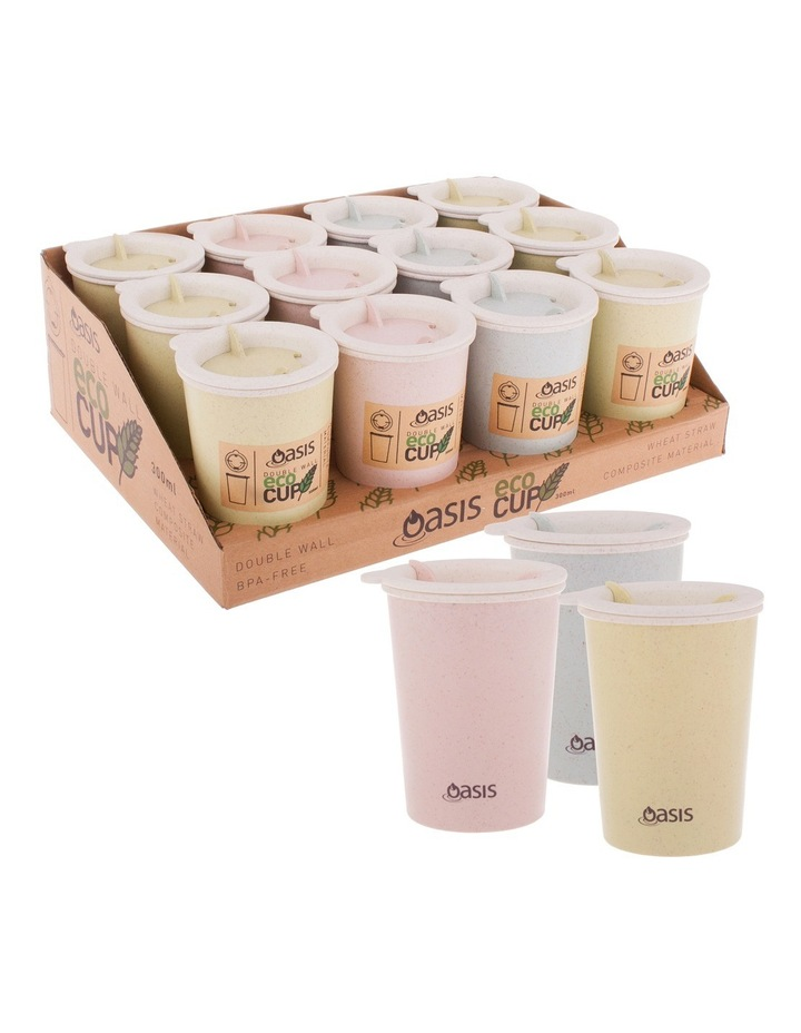 300ml Double Wall Eco Cup - Assorted Colours image 1