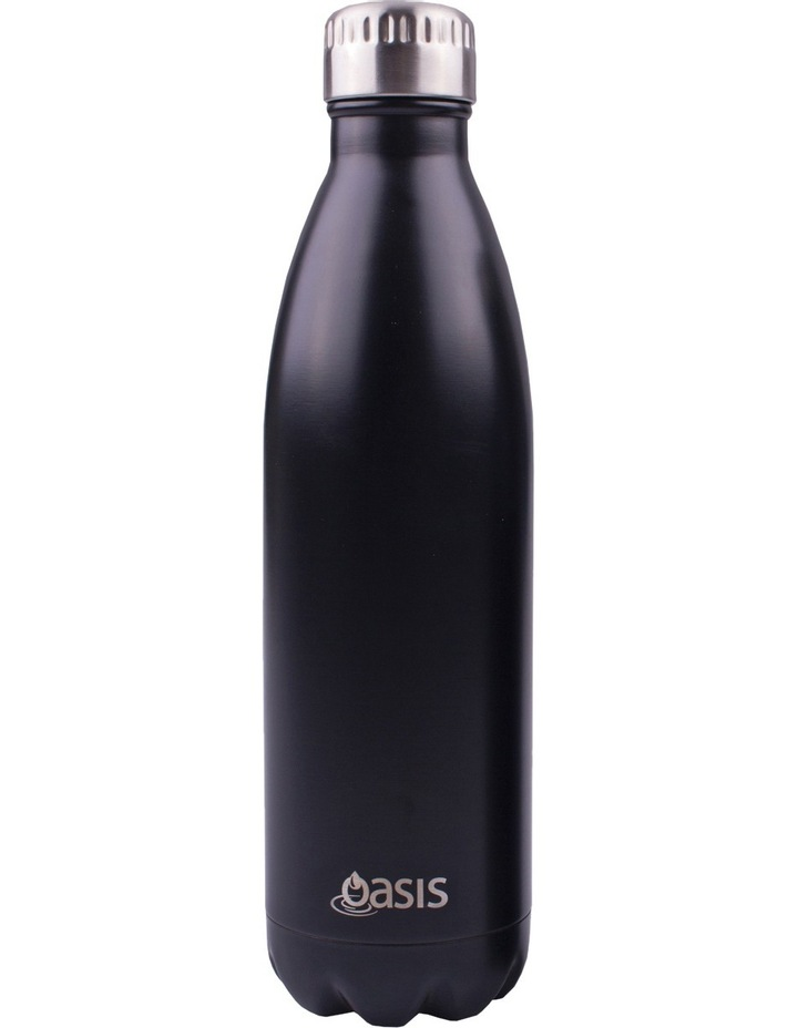 Double Wall Insulated Drink Bottle 750ml - Matte Black image 1