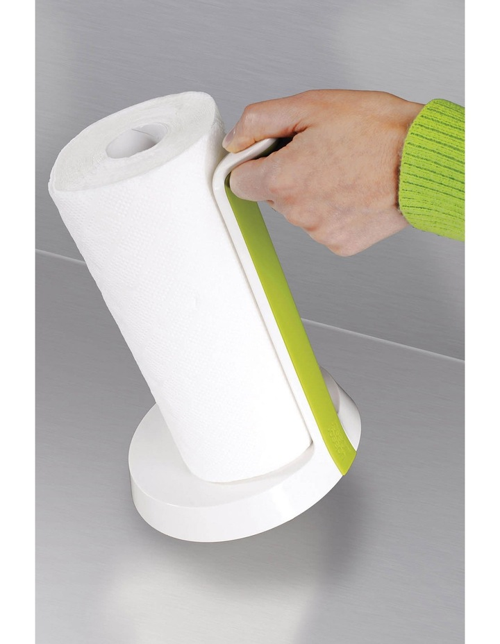 Easy Tear Kitchen Roll Holder - White/Green image 3