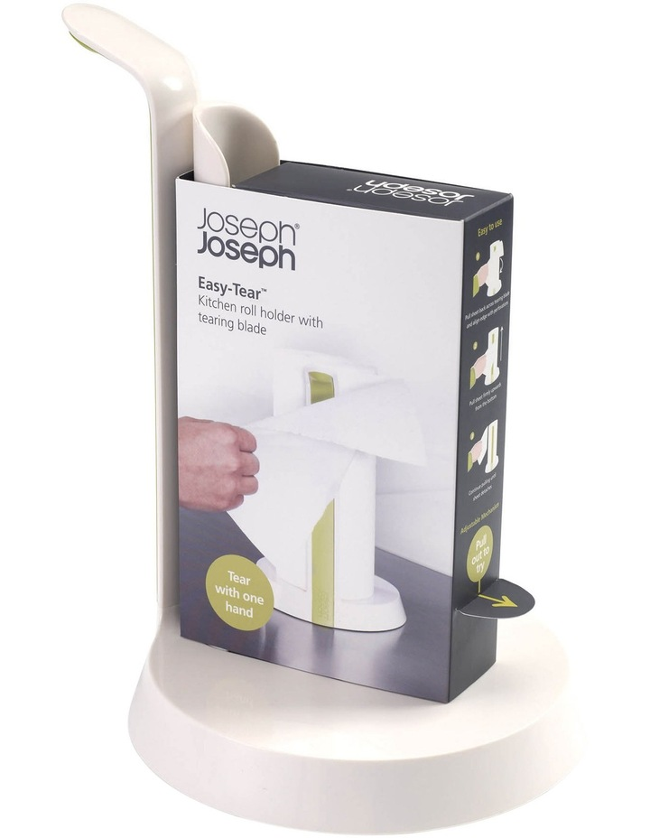Easy Tear Kitchen Roll Holder - White/Green image 5