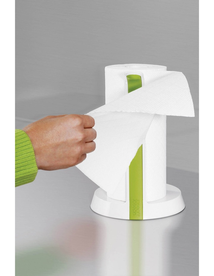 Easy Tear Kitchen Roll Holder - White/Green image 9