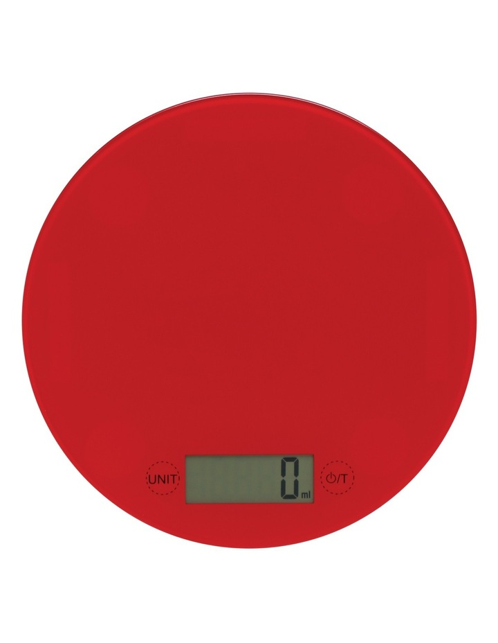 Glass Round Scale  5kg/1g - Red image 1