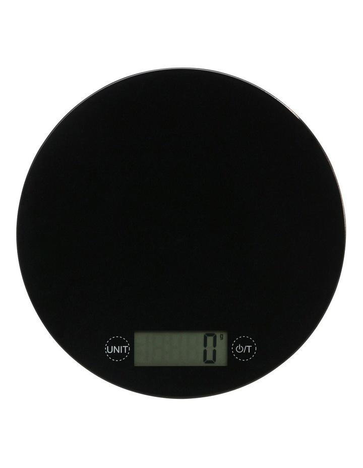 Glass Round Scale  5kg/1g - Black image 1