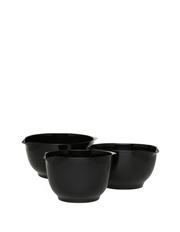 Vue - 3 Piece Mixing Bowl Set - Black