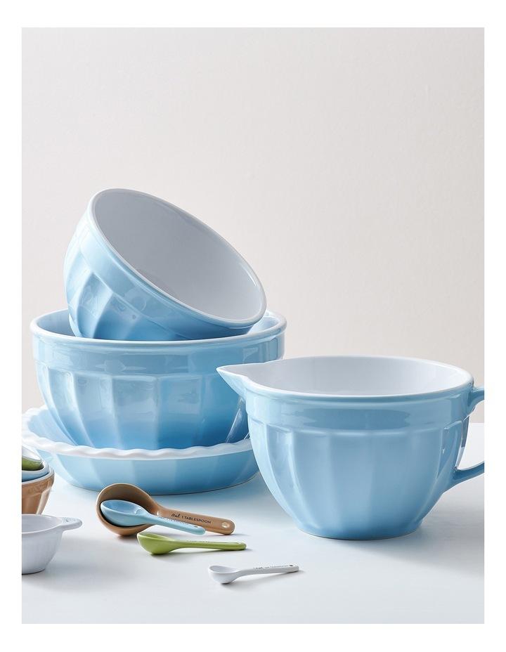 Ribbed Large Mixing Bowl - Blue image 3