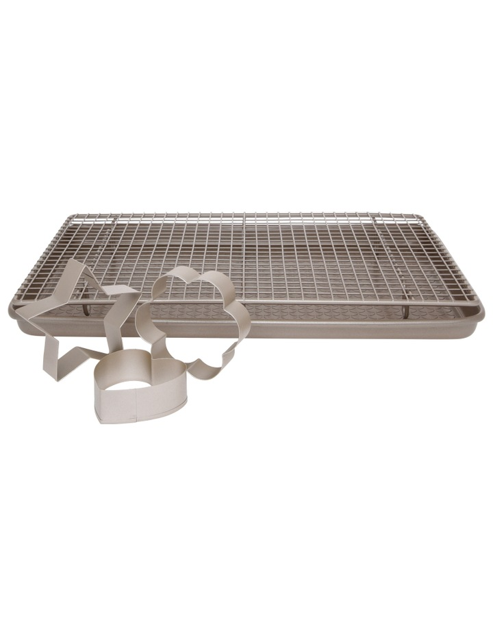 Luxe Baking Bundle - Cookie Sheet, Cooling Rack, Cooking Cutters image 1