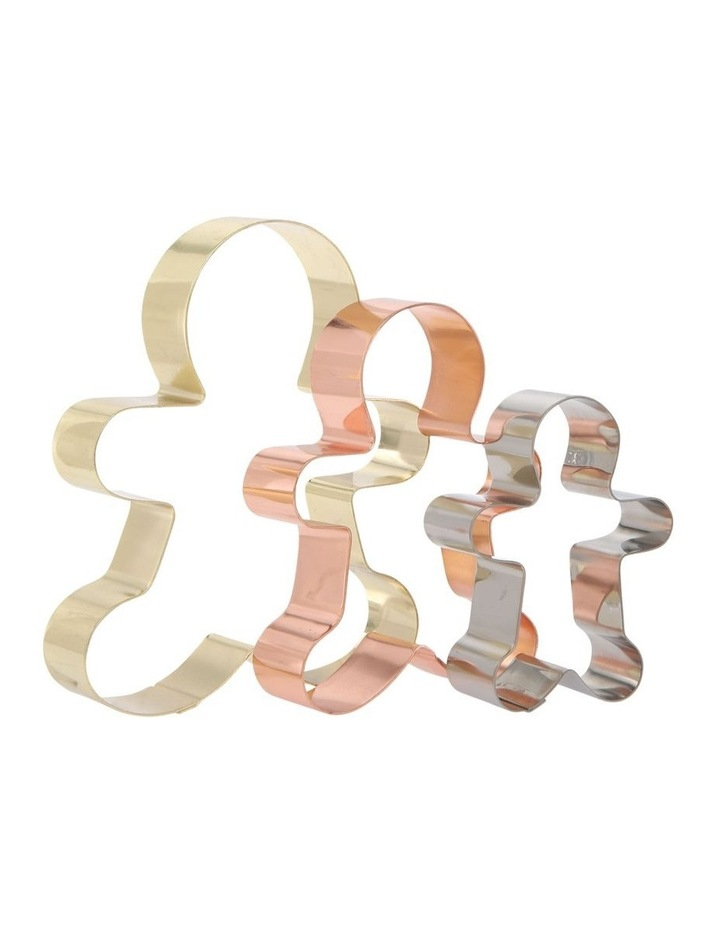 Christmas Cookie Cutter Gingerbread Man Set of 3 image 2