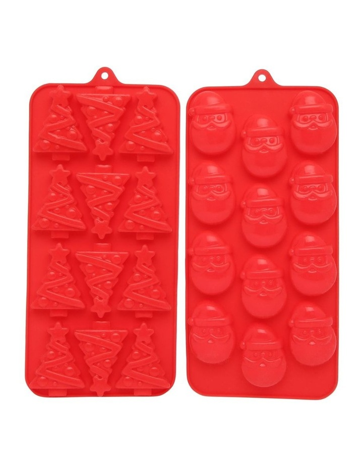 Christmas Silicone Chocolate Mould Set Of 2 image 1
