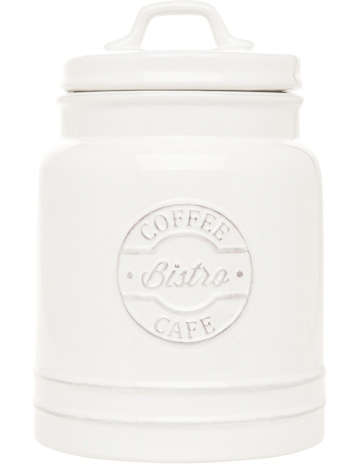 Provincial Ceramic Coffee Canister With Embossing image 1