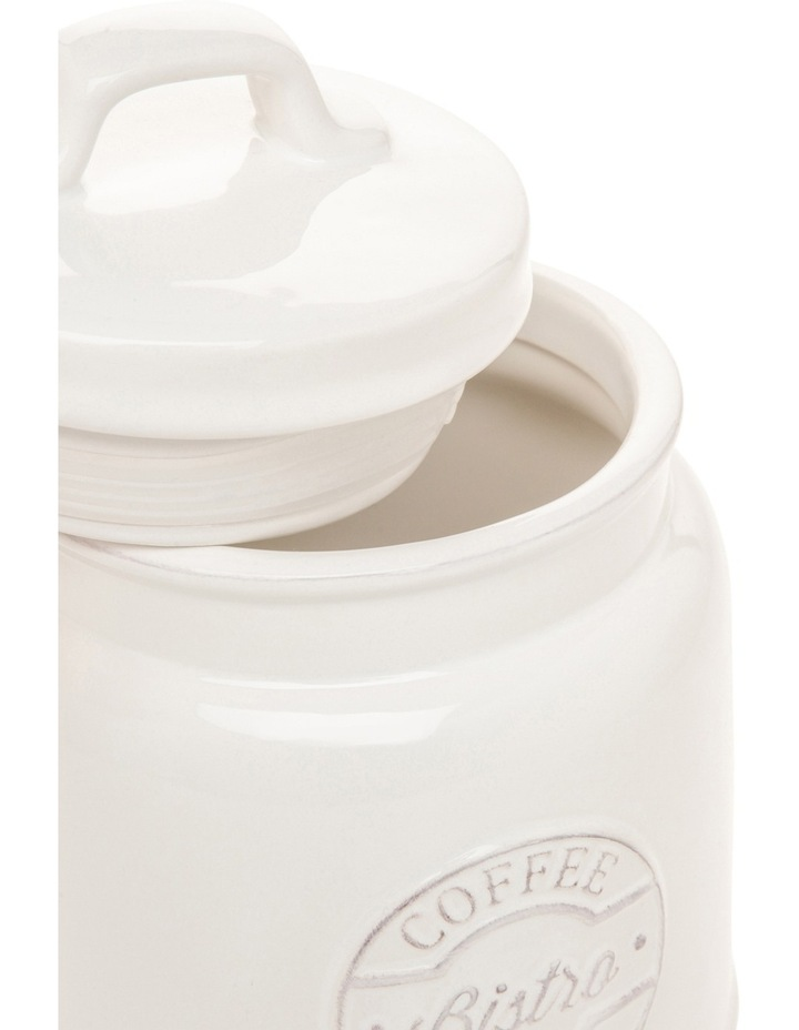 Provincial Ceramic Coffee Canister With Embossing image 2