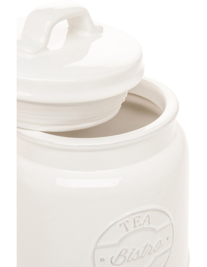 Heritage provincial ceramic tea canister with embossing image 2
