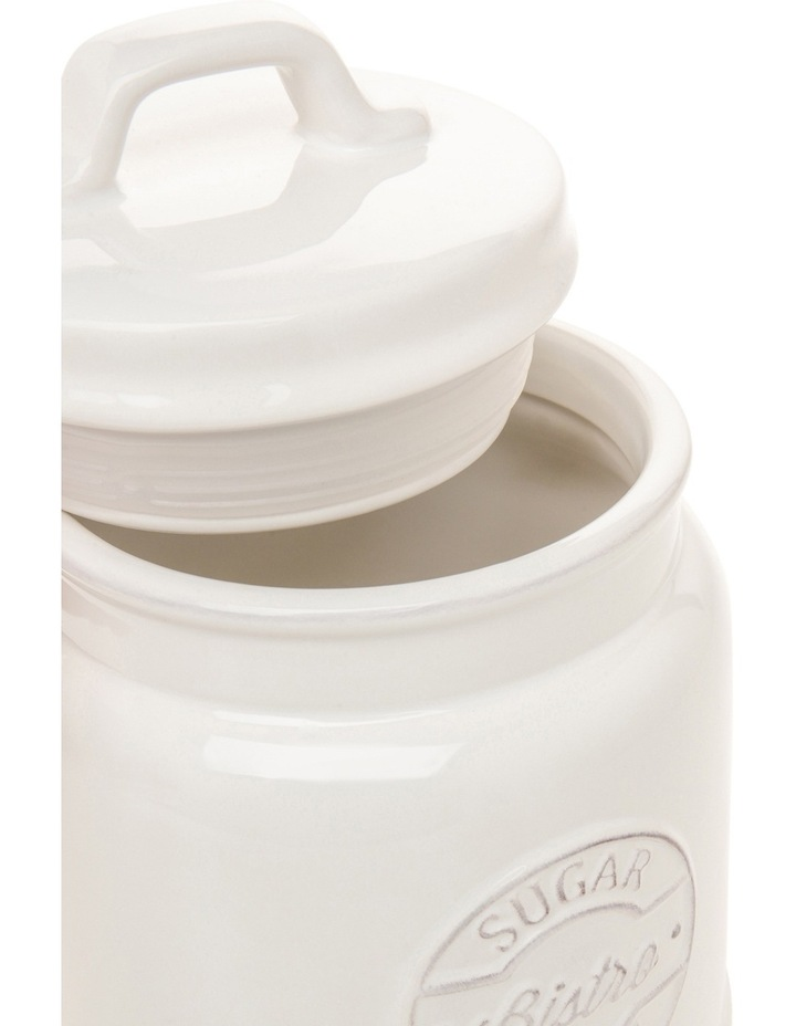 Provincial ceramic sugar canister with embossing image 2