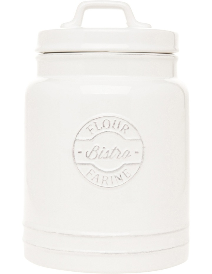 Provincial ceramic flour canister with embossing image 1