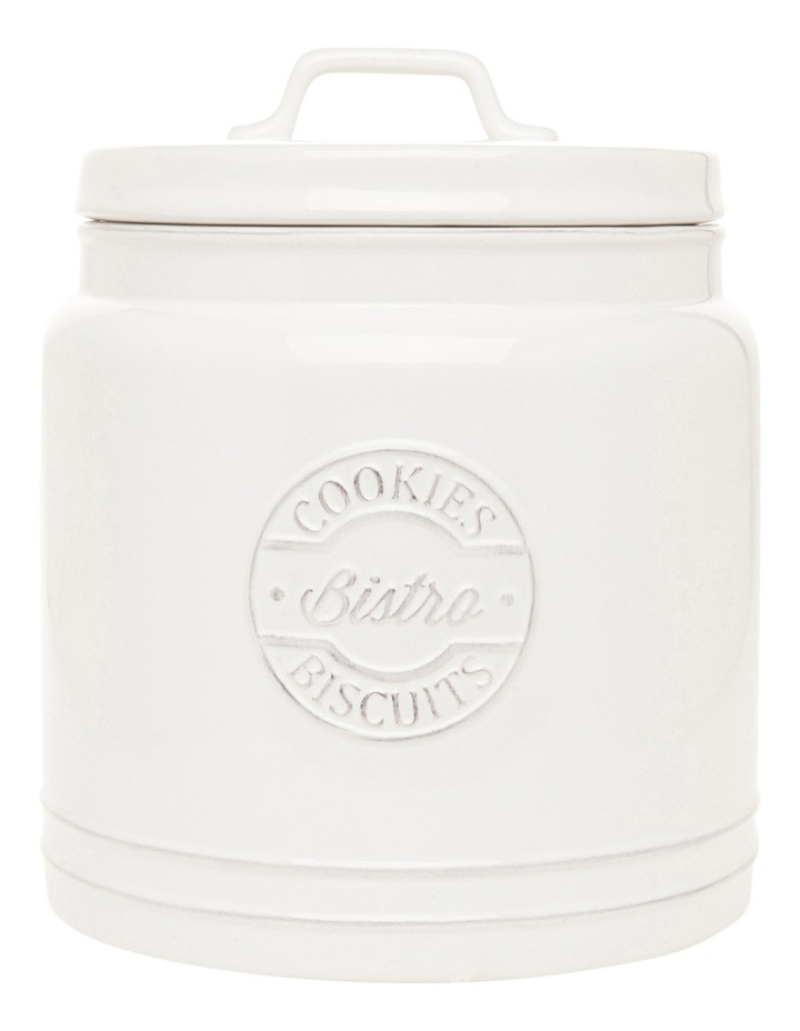 Provincial ceramic cookie jar with embossing image 1
