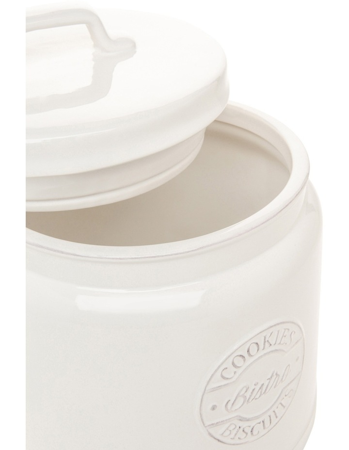 Provincial ceramic cookie jar with embossing image 2