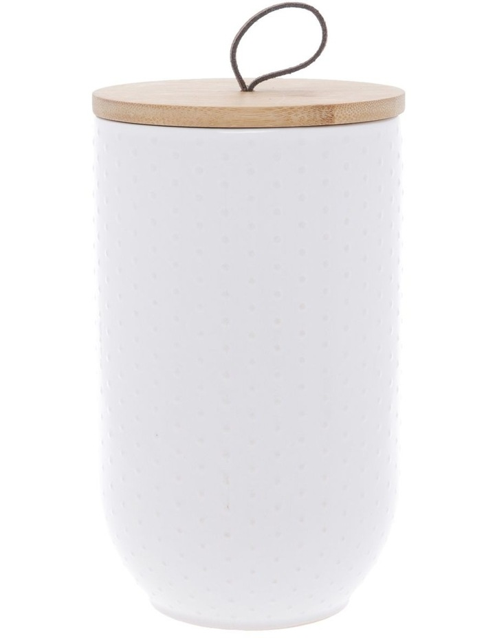 White Dots Embossed Canister image 1