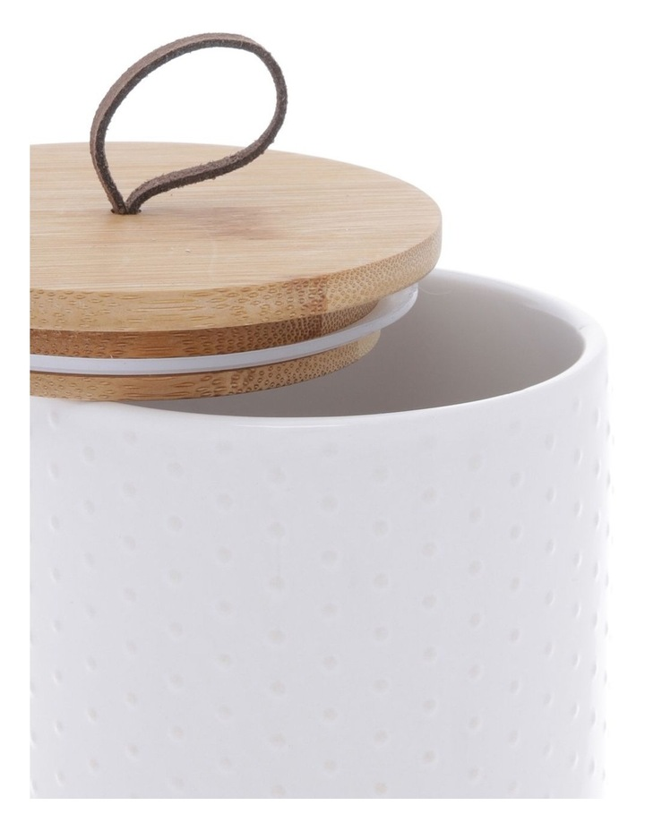 White Dots Embossed Canister image 2